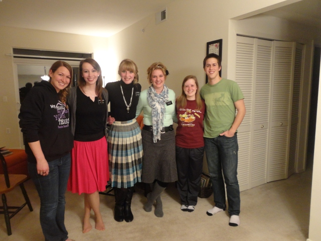 Since they're not our missionaries anymore, I suppose we can call them by their first names?!  All of us together: Jessica, Anne, Valerie, Alicia, myself and Danny