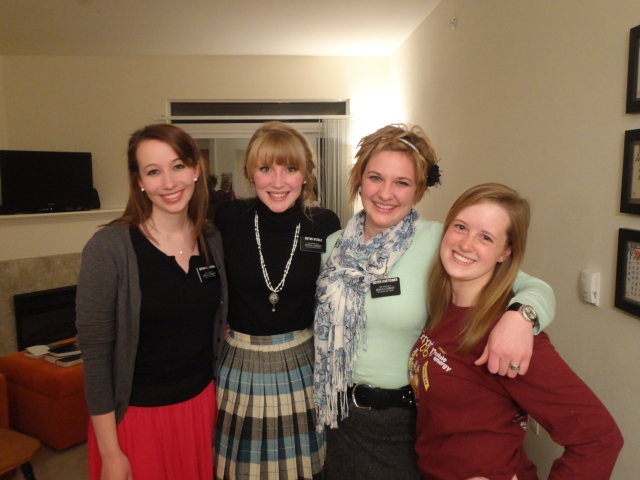 Sister Klenotich, Sister Steele, Sister Kartchner, and myself.